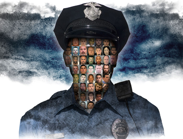 Graphic of cops